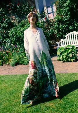 Micaela Printed Maxi Dress