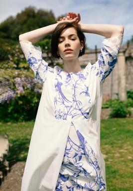 Helen Patchwork Printed Dress