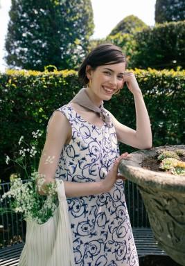 Sofia White Printed Dress