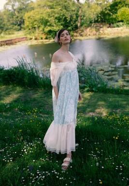 Chloe Printed Ruffled Dress