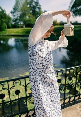 Julia Poplin Printed Maxi Dress