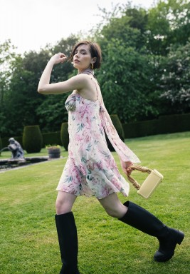 Summer Printed Floral Mini Slip Dress