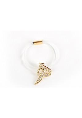 Ha'a Diamond with 18 carats Gold Nylon Ring
