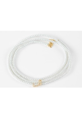 Shïn Diamond Diamond with 18 carats Gold  White Pearls Bracelet