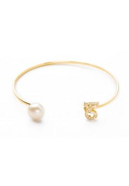 HA'A 18-karat Gold, diamonds and a pearl Bangle