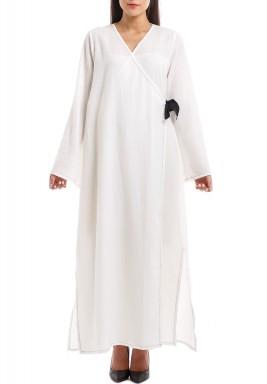 Yuki White Kimono Kaftan