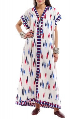 Chevron trio kaftan short sleeves version