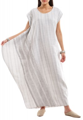 The Wide Side Grey & White Checkered Dress