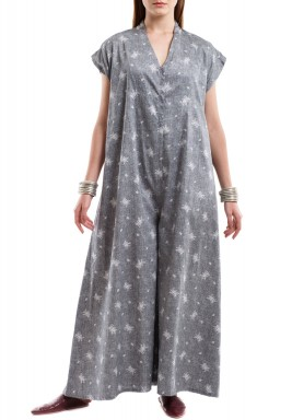 Grey blossoms jumpsuit