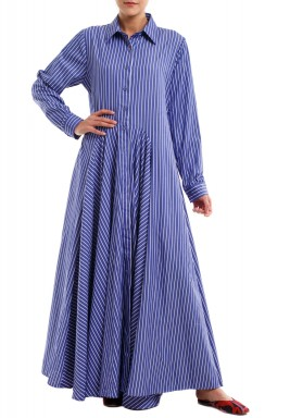 Boku stripes long sleeved kaftan