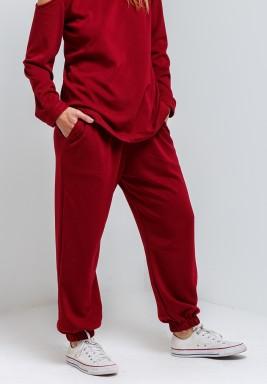 Dark Red Loungewear Pants