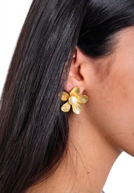 Flower & Pearl Earring