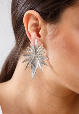 Silver shooting star earrings