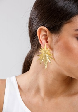 Golden shooting star earrings