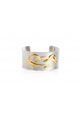 "Silver ""Love"" Engraved Hand Cuff Bracelet"
