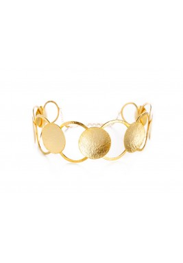 Gold Plated Linked Hoops Choker