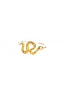 Gold Plated Snake Cuff Bracelet
