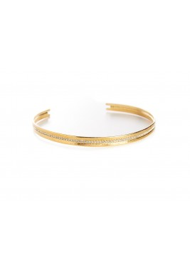 Gold Plated Crystal Choker