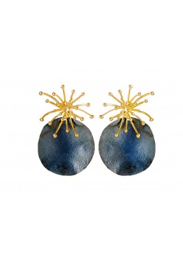 Gold Plated Dandelion Earrings
