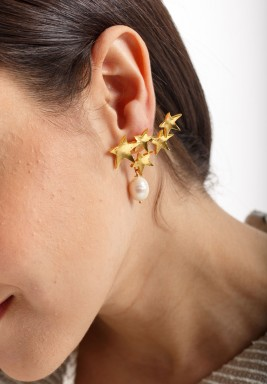 Golden Stars Earrings