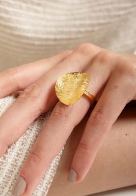 Boho coin ring