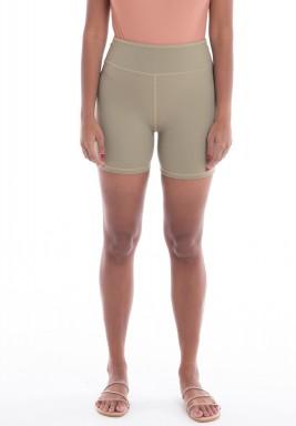 Khaki Biker Shorts