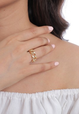 Gold-Tone Chain Ring