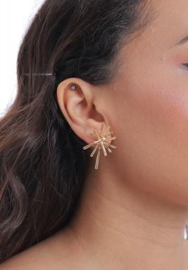 Gold-Tone Star Earrings