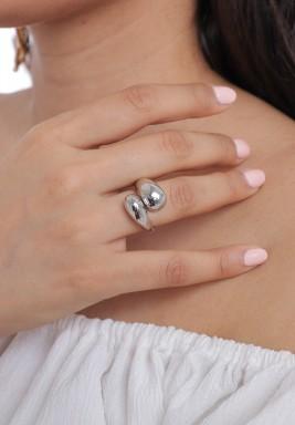 Silver-Tone Wraparound Ring