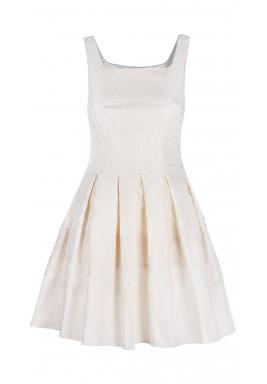 Laser cut holes dress
