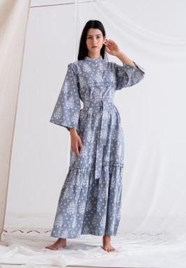 Gray Printed Dress