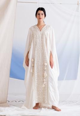 Gardenia Embroidered Maxi dress