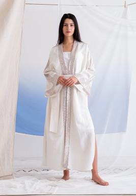 Off-White Sequined Maxi Abaya