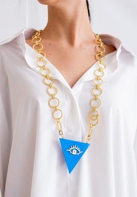 Blue EyeLong Necklace