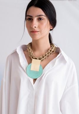 Katerina Vassou Turquoise Braided Necklace