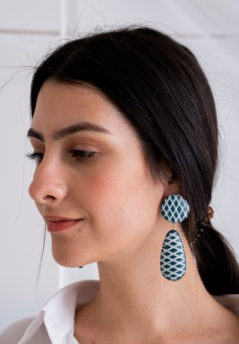 Arcus Turquoise Drop Earrings