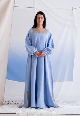 Blue Button Maxi Dress
