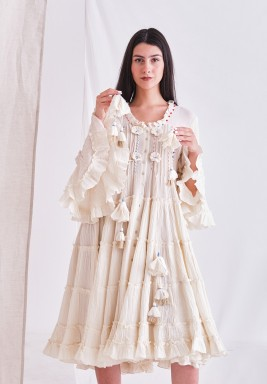 Light Beige Dress with Tassel