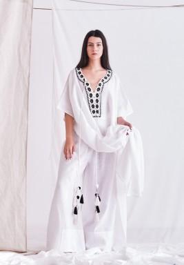 White High Waisted Trouser