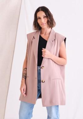 Pink Oversized Vest