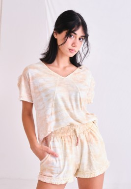 Top and Shorts Set with Fringes Lace