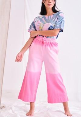 Pink Ombre Dye Pants