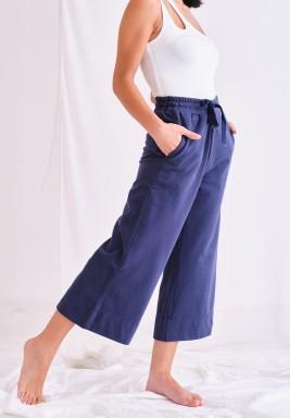 Solid Blue Pants