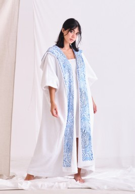 White Hooded Cape Coverup