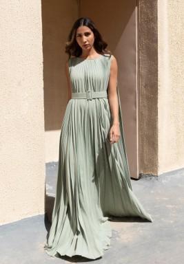 Tiffany Belted Plisse Kaftan