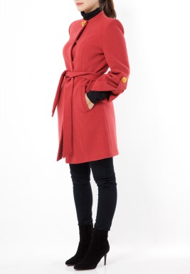 Wool Maroon Coat