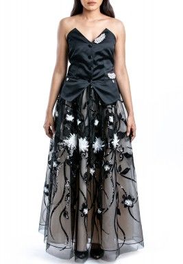 Black Tulle Payette & Fay Set