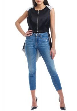 Black Wing Sleeveless Jacket