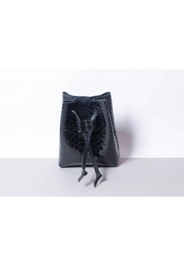 Candy Black Waist Leather Bag