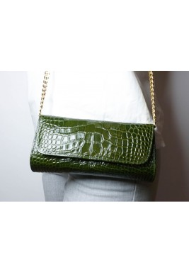 Dark Green Gala Clutch
